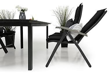 Ruokailuryhmä Portland 220-280x90 + 6 Monaco Lyx tuolia