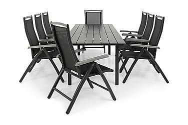 Ruokailuryhmä Portland 220-280x90 + 8 Monaco Lyx tuolia