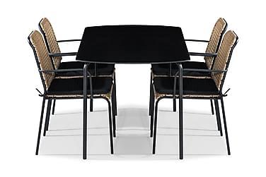 Ruokailuryhmä Tahiti 160x80 + 4 tuolia Pehmuste