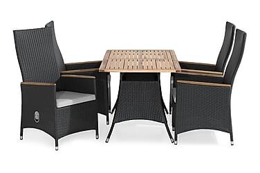 Ruokailuryhmä Thor 140x90 + 4 Jenny Lyx tuolia Pehmuste
