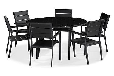 Ruokailuryhmä Tunis 140 Pyöreä + 6 tuolia