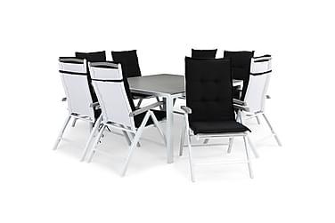 Ruokailuryhmä Tunis 140x140 + 8 Monaco Lyx tuolia Pehmuste
