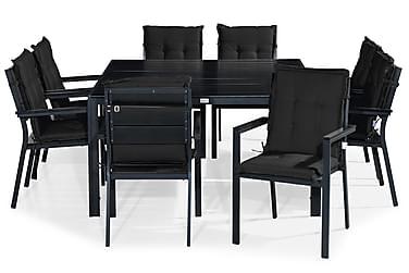 Ruokailuryhmä Tunis 140x140 + 8 tuolia Pehmuste
