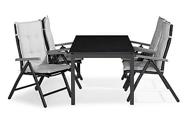 Ruokailuryhmä Tunis 150x90 + 4 Monaco Lyx tuolia Pehmuste