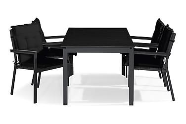 Ruokailuryhmä Tunis 150x90 + 4 tuolia Pehmuste