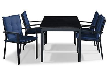 Ruokailuryhmä Tunis 152-210x90 + 4 tuolia Pehmuste