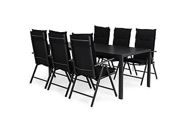 Ruokailuryhmä Tunis 205x90 + 6 Maggie tuolia Pehmuste