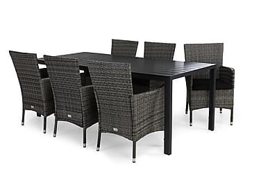 Ruokailuryhmä Tunis 205x90 + 6 Thor tuolia pehmuste