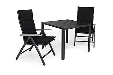 Ruokailuryhmä Tunis 90x90 + 2 Monaco Lyx tuolia Pehmuste