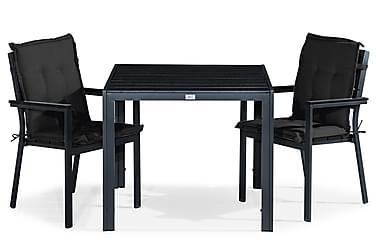 Ruokailuryhmä Tunis 90x90 + 2 tuolia Pehmuste