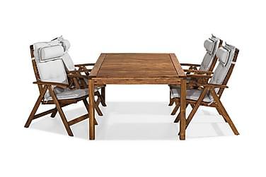 Ruokailuryhmä Värmdö 180x90 4 Lidö tuolia Pehmusteet