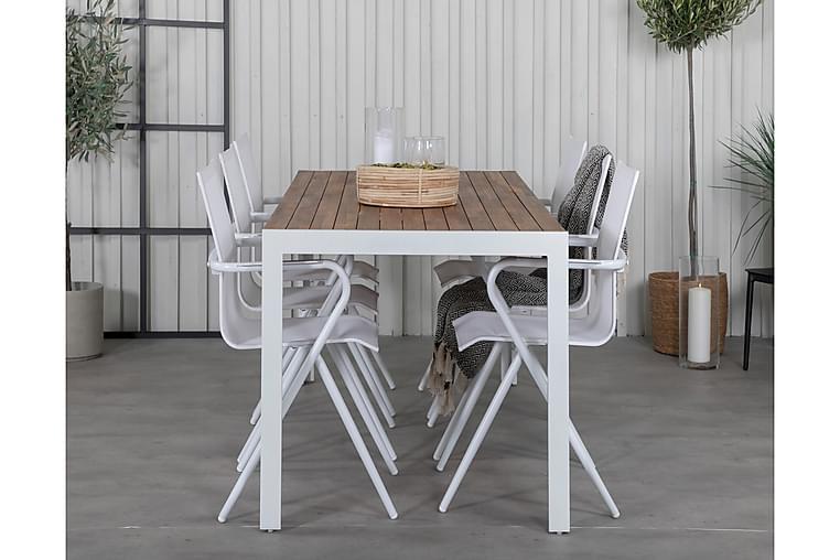 Ruokapöytä Bounce 6 Alling Ruokatuolia - Puutarhakalusteet - Ulkotilan ruokailuryhmät - Ruokailuryhmät ulos