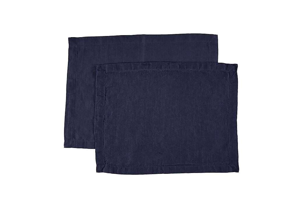 Tabletti Pellava 2-P Ombre Sininen 35x45 cm 2-pak - Sininen - Sisustustuotteet - Keittiötarvikkeet - Keittiön tekstiilit