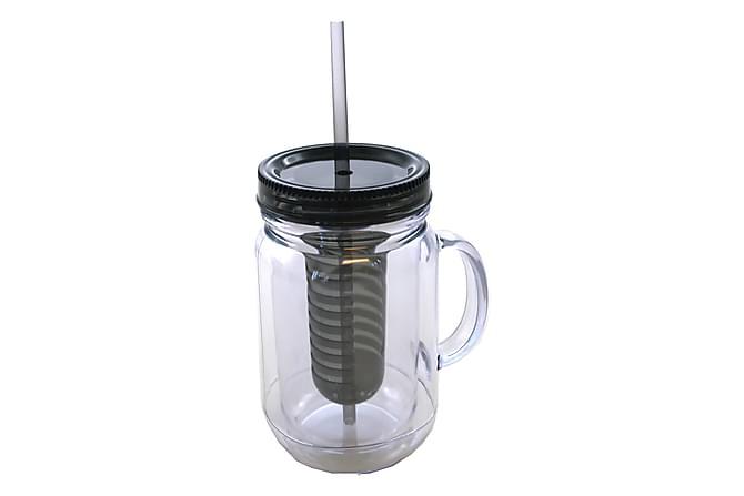 Muki Kahva Suodatin ja Pilli Musta Kansi 570 Ml K17 cm - Sisustustuotteet - Keittiötarvikkeet - Mukit & kupit