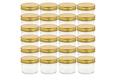 Lasiset hillopurkit kullan värisillä kansilla 24 kpl 110 ml