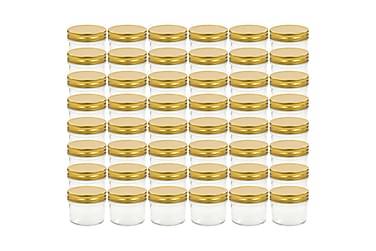 Lasiset hillopurkit kullan värisillä kansilla 48 kpl 110 ml