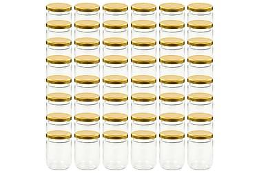 Lasiset hillopurkit kullan värisillä kansilla 48 kpl 230 ml