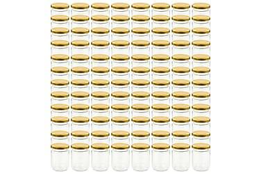 Lasiset hillopurkit kullan värisillä kansilla 96 kpl 230 ml