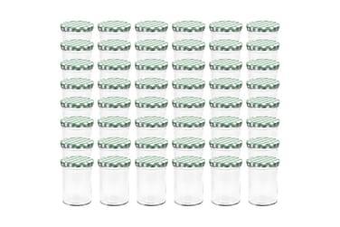 Lasiset hillopurkit valkovihreillä kansilla 48 kpl 400 ml