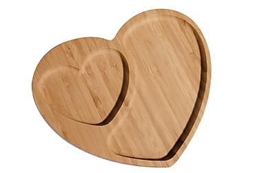 Tarjoilulautanen Kosova Sydämenmuotoinen Bambu