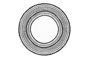 Lautanen Kerttu Ø 257 cm mustavalkoine