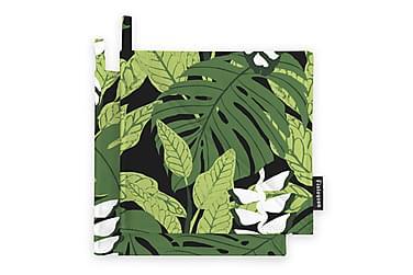 Patalappusetti Bunaken, 22x22cm, musta/vihreä
