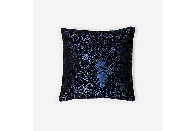 BLACKBIRD koristetyyny 45x45 cm musta-sininen - Lennol - Sisustustuotteet - Kodintekstiilit - Koristetyynyt