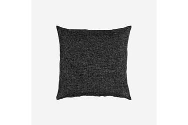 LASSI koristetyyny 50x50 cm musta meleerattu