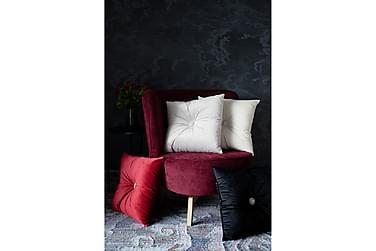 MEELA koristetyyny koristenapilla 50x50 cm vaaleanharmaa