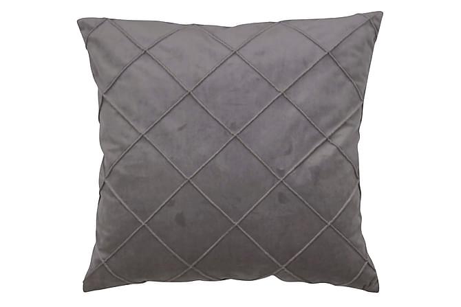 Tyynynpäällinen Jonna 50x50 cm Harmaa - Fondaco - Sisustustuotteet - Kodintekstiilit - Koristetyynyt
