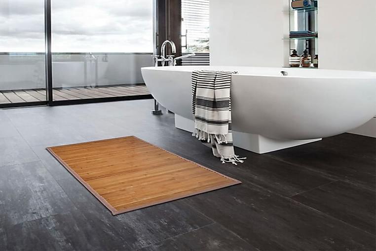 Bambu Kylpymatto 2 kpl 40 x 50 cm Ruskea - Ruskea - Sisustustuotteet - Kodintekstiilit - Kylpyhuoneen tekstiilit