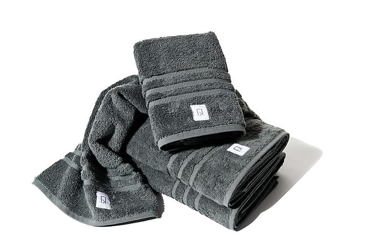 Frotee Käsipyyhe Kosta Linnewäfveri 70x50 cm - Tummanharmaa - Sisustustuotteet - Kodintekstiilit - Kylpyhuoneen tekstiilit