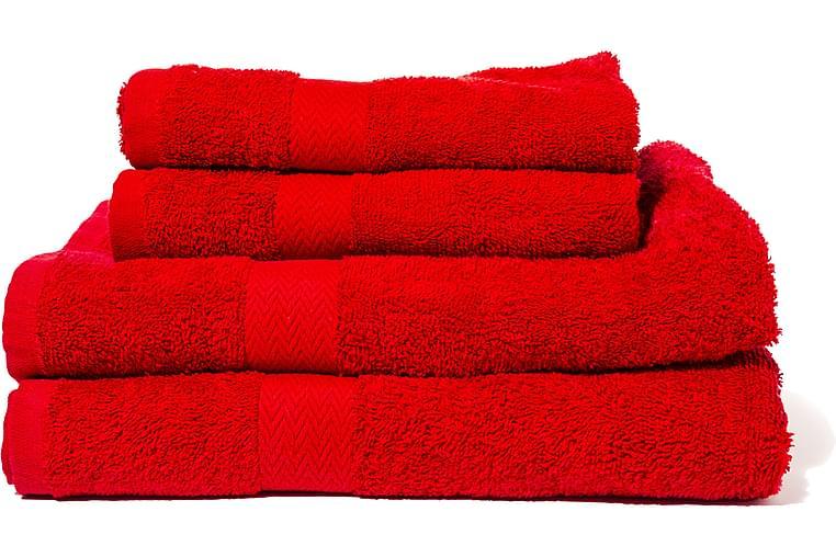 Frotee Kylpypyyhe Queen Anne 130x65 cm - Punainen - Sisustustuotteet - Kodintekstiilit - Kylpyhuoneen tekstiilit