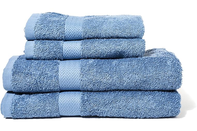 Frotee Kylpypyyhe Queen Anne 130x65 cm - Sininen - Sisustustuotteet - Kodintekstiilit - Kylpyhuoneen tekstiilit