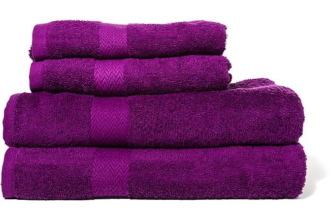 Froteekäsipyyhe Queen Anne - 70x50cm Liila - Sisustustuotteet - Kodintekstiilit - Kylpyhuoneen tekstiilit