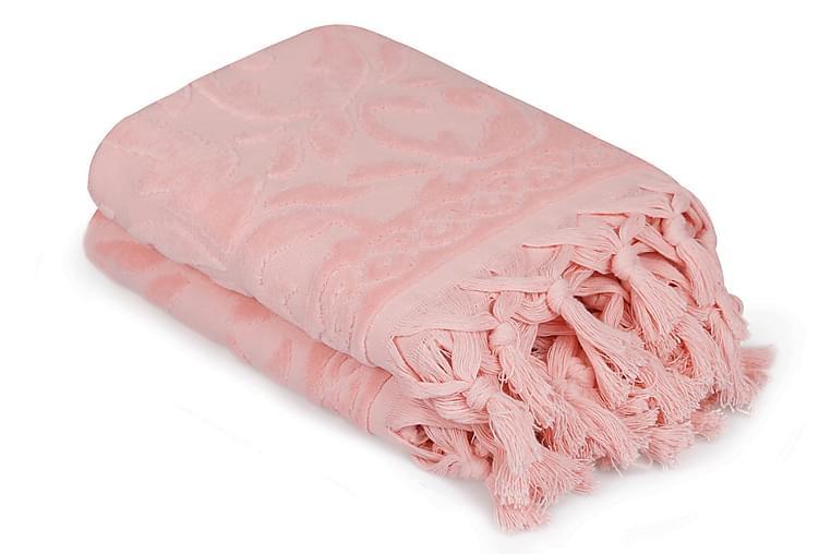 Käsipyyhe Şaheser 50x90 cm 2-pak - Roosa - Sisustustuotteet - Kodintekstiilit - Kylpyhuoneen tekstiilit