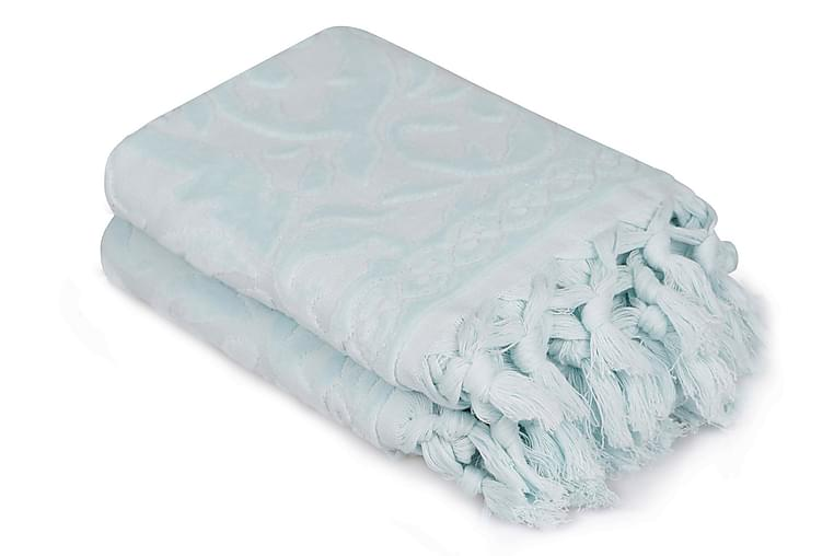 Käsipyyhe Şaheser 50x90 cm 2-pak - Sininen - Sisustustuotteet - Kodintekstiilit - Kylpyhuoneen tekstiilit
