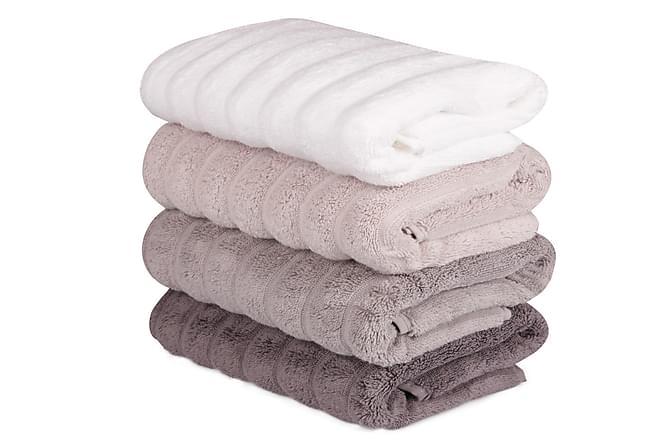 Käsipyyhe Şaheser 50x90 cm 4-pak - Valkoinen/Roosa/Liila - Sisustustuotteet - Kodintekstiilit - Kylpyhuoneen tekstiilit