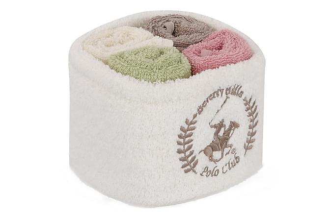 Käsipyyhe Beverly Hills Polo Club 30x30 cm 4-pak - Monivärinen - Sisustustuotteet - Kodintekstiilit - Kylpyhuoneen tekstiilit