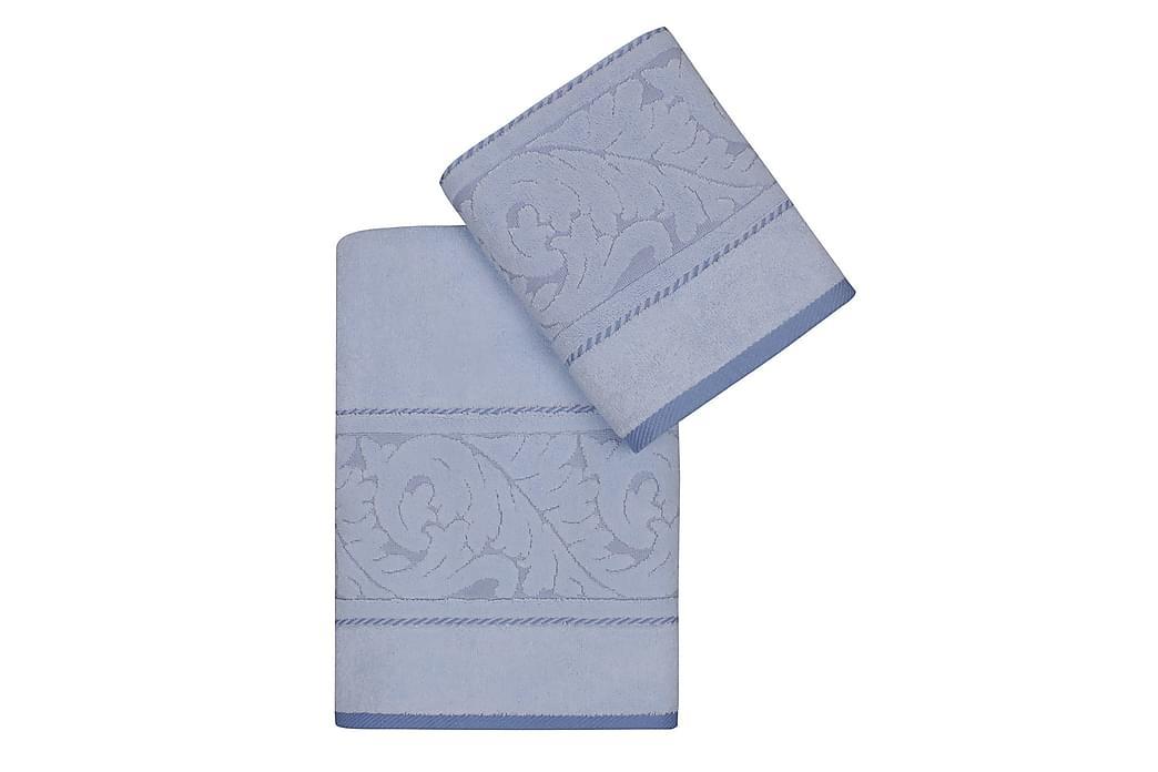Käsipyyhe Hobby 2:n setti - Sininen - Sisustustuotteet - Kodintekstiilit - Kylpyhuoneen tekstiilit