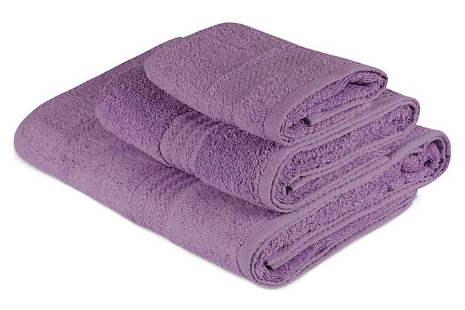 Käsipyyhe Hobby 3:n setti - Liila - Sisustustuotteet - Kodintekstiilit - Kylpyhuoneen tekstiilit