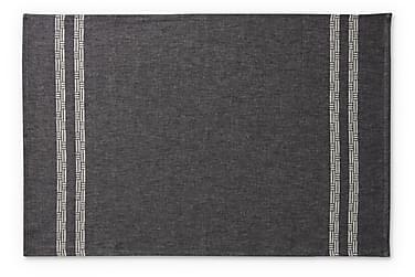 Käsipyyhe Tamminiemi, 50x70cm, musta/pellava