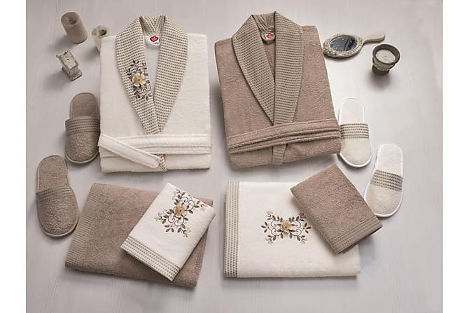 Käsipyyhesetti Cotton Box Perhe 4:n setti - Hiekka/Beige - Sisustustuotteet - Kodintekstiilit - Kylpyhuoneen tekstiilit
