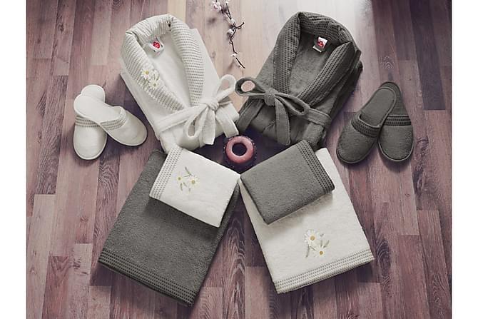 Käsipyyhesetti Cotton Box Perhe 4:n setti - Hiekka/Ruskea - Sisustustuotteet - Kodintekstiilit - Kylpyhuoneen tekstiilit