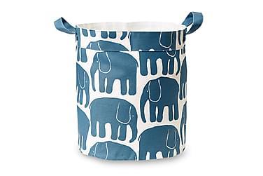 Kori Elefantti, 30x30cm, petrooli/valkoinen