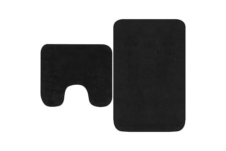 Kylpyhuoneen mattosarja 2 osaa kangas antrasiitti - Harmaa - Sisustustuotteet - Kodintekstiilit - Kylpyhuoneen tekstiilit