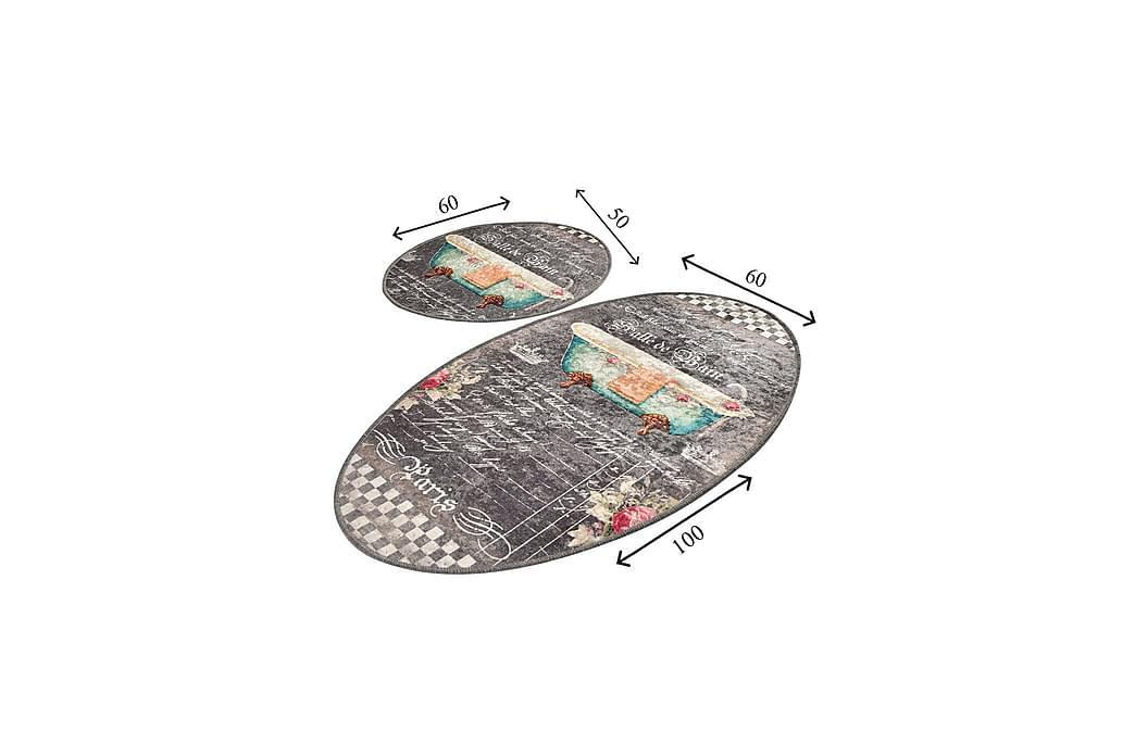 Kylpyhuonematto Baray 2 kpl - Monivärinen - Sisustustuotteet - Kodintekstiilit - Kylpyhuoneen tekstiilit