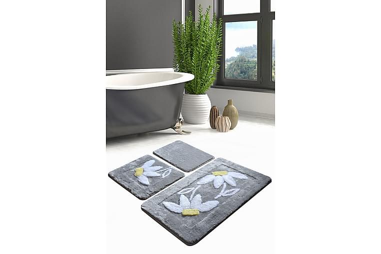 Kylpyhuonematto Baray 3 kpl - Monivärinen - Sisustustuotteet - Kodintekstiilit - Kylpyhuoneen tekstiilit
