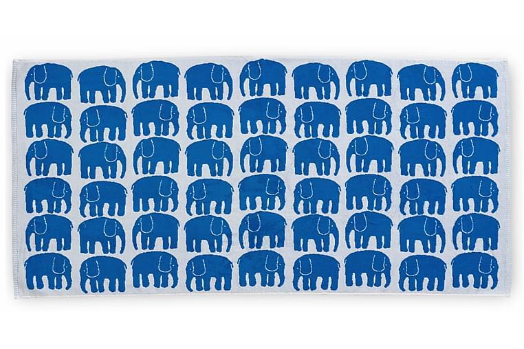 Kylpypyyhe Elefantti 70x150 cm Sininen/Valkoinen - Finlayson - Sisustustuotteet - Kodintekstiilit - Kylpyhuoneen tekstiilit