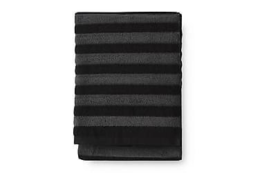 Kylpypyyhe Reiluraita 70x150 cm Harmaa/Musta